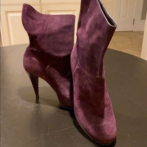 Cole Haan NikeAir platform plum suede boots. 9.5